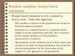 random sampling design based estimation