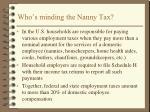 who s minding the nanny tax
