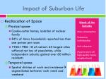 impact of suburban life1