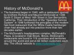 history of mcdonald s