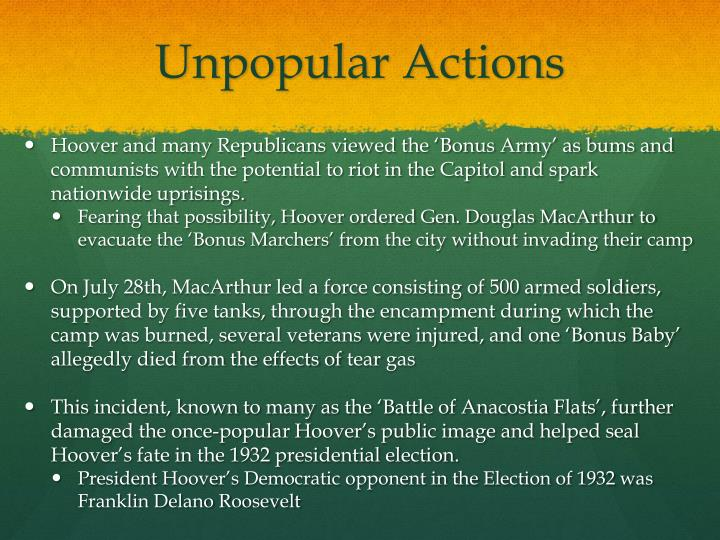 Unpopular Actions
