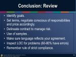 conclusion review