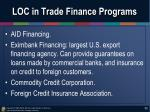 loc in trade finance programs