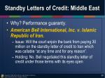 standby letters of credit middle east
