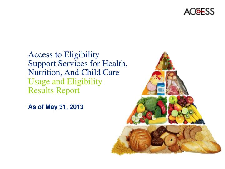 Access to Eligibility