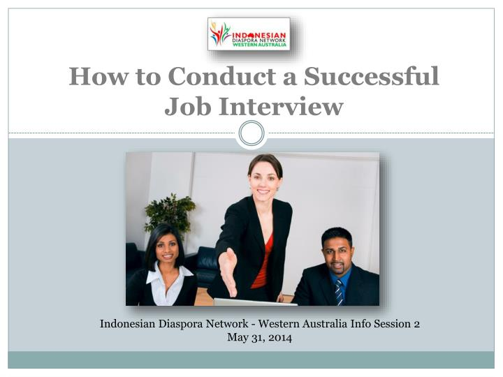 how to conduct a s uccessful job interview n.