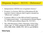 disparate impact ecoa deference
