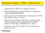 disparate impact fha deference