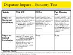 disparate impact statutory text