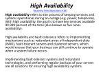high availability