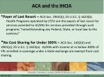 aca and the ihcia