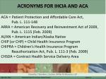 acronyms for ihcia and aca