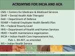acronyms for ihcia and aca1