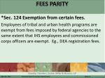 fees parity