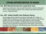 other opportunities to share