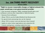 sec 206 third party recovery 25 u s c 1621e