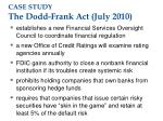 case study the dodd frank act july 2010