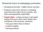 financial crises in emerging economies