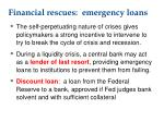 financial rescues emergency loans
