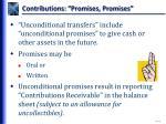 contributions promises promises