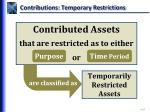 contributions temporary restrictions
