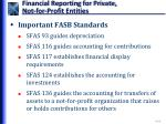 financial reporting for private not for profit entities1