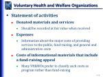 voluntary health and welfare organizations6