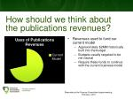 how should we think about the publications revenues