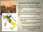 austria out of italy