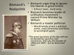 bismarck s realpolitik