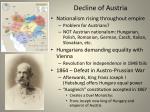 decline of austria