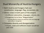 dual monarchy of austria hungary
