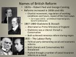 names of british reform