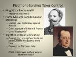 piedmont sardinia takes control