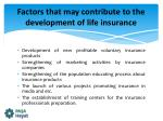 factors that may contribute to the development of life insurance