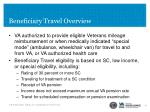 beneficiary travel overview