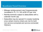 beneficiary travel overview1