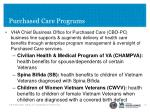 purchased care programs