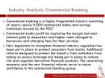 industry analysis commercial banking