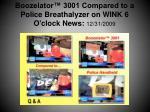 boozelator 3001 compared to a police breathalyzer on wink 6 o clock news 12 31 2009