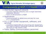 components of ng9 1 1 vision