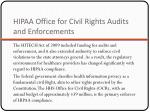 hipaa office for civil rights audits and enforcements