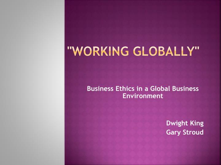 working globally n.