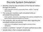 discrete system simulation