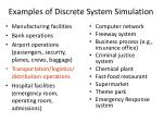 examples of discrete system simulation