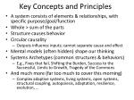 key concepts and principles