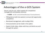 advantages of the e gos system