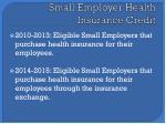 small employer health insurance credit