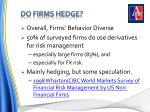 do firms hedge
