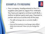 example fx hedging